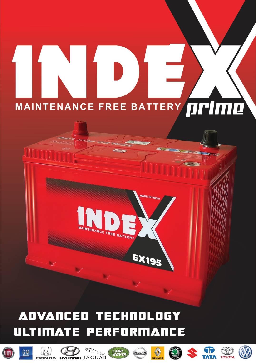 แบตเตอรี่ index ex195L